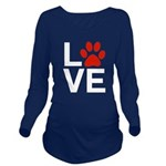 Love Dogs / Cats Paw Long Sleeve Maternity T-Shirt