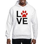 Love Dogs / Cats Pawprints Hooded Sweatshirt