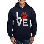 Love Dogs / Cats Pawprints Hoodie (dark)