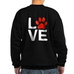Love Dogs / Cats Pawprints Sweatshirt (dark)