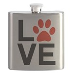 Love Dogs / Cats Pawprints Flask