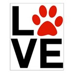 Love Dogs / Cats Pawprints Small Poster