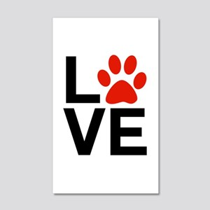 Love Dogs / Cats Pawprints 20x12 Wall Decal