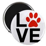 Love Dogs / Cats Pawprints Magnet