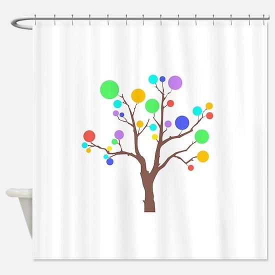 tree circles Shower Curtain