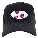 Pink Black Ladybugs Baseball Hat