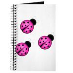 Pink Black Ladybugs Journal