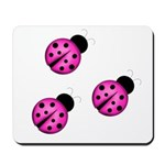 Pink Black Ladybugs Mousepad