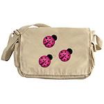 Pink Black Ladybugs Messenger Bag