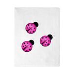 Pink Black Ladybugs Twin Duvet