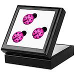 Pink Black Ladybugs Keepsake Box