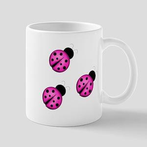 Pink Black Ladybugs Mugs