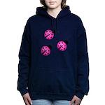 Pink Black Ladybugs Women's Hooded Sweatshirt