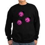 Pink Black Ladybugs Sweatshirt