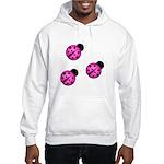 Pink Black Ladybugs Hoodie