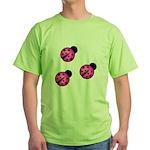 Pink Black Ladybugs T-Shirt