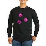 Pink Black Ladybugs Long Sleeve T-Shirt