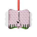 Vintage Pink Paris Ornament