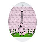 Vintage Pink Paris Ornament (Oval)