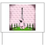 Vintage Pink Paris Yard Sign
