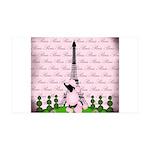 Vintage Pink Paris Wall Decal