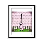 Vintage Pink Paris Framed Panel Print