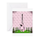 Vintage Pink Paris Greeting Cards