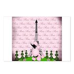 Vintage Pink Paris Postcards (Package of 8)