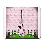 Vintage Pink Paris Mousepad