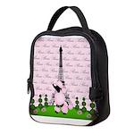 Vintage Pink Paris Neoprene Lunch Bag