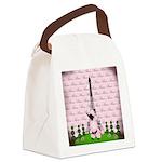 Vintage Pink Paris Canvas Lunch Bag
