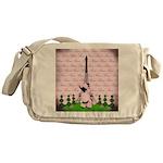 Vintage Pink Paris Messenger Bag