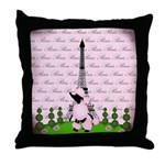 Vintage Pink Paris Throw Pillow