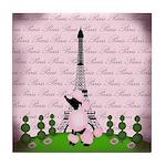 Vintage Pink Paris Tile Coaster