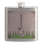 Vintage Pink Paris Flask