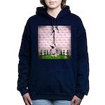 Vintage Pink Paris Women's Hooded Sweatshirt