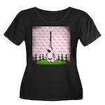 Vintage Pink Paris Plus Size T-Shirt
