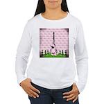 Vintage Pink Paris Long Sleeve T-Shirt