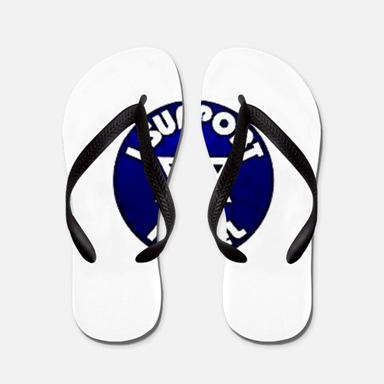 I Support Israel - Star of David Flip Flops