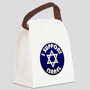 I Support Israel - Star of David Canvas Lunch Bag