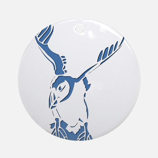 Puffin Landing Ornament (Round)