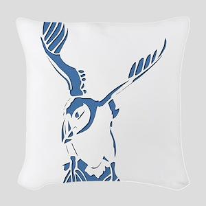 Puffin Landing Woven Throw Pillow