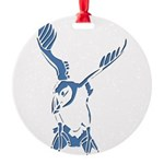 Puffin Landing Round Ornament