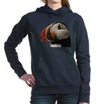 Puffin Portrait Women's Hooded Sweatshirt
