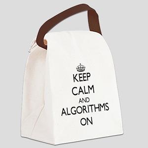 Keep Calm and Algorithms ON Canvas Lunch Bag