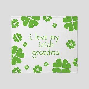 I Love My Irish Throw Blanket