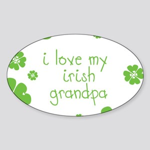 I Love My Irish Sticker (Oval)