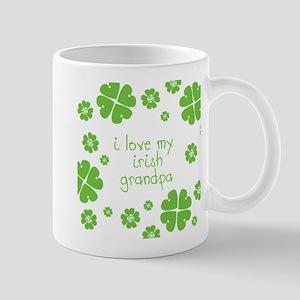 I Love My Irish Grandpa Mugs