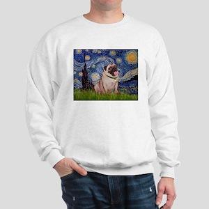 Starry Night and Pug Sweatshirt