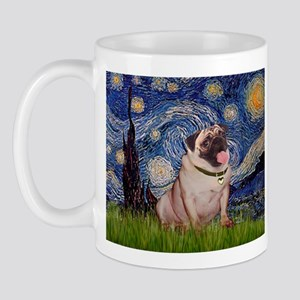 Starry Night and Pug Mug